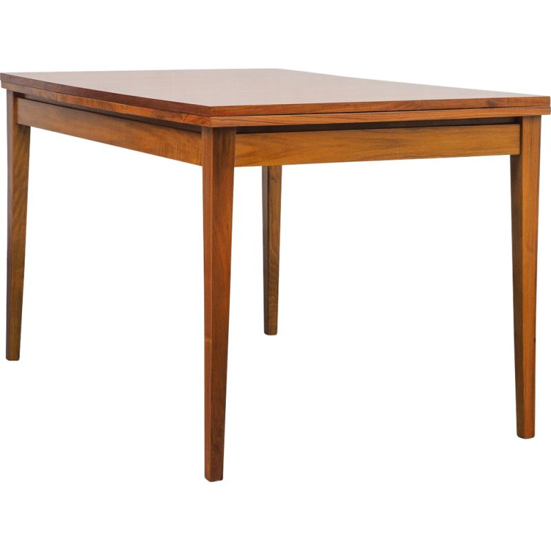 Vintage extendable walnut dining table, 1960s