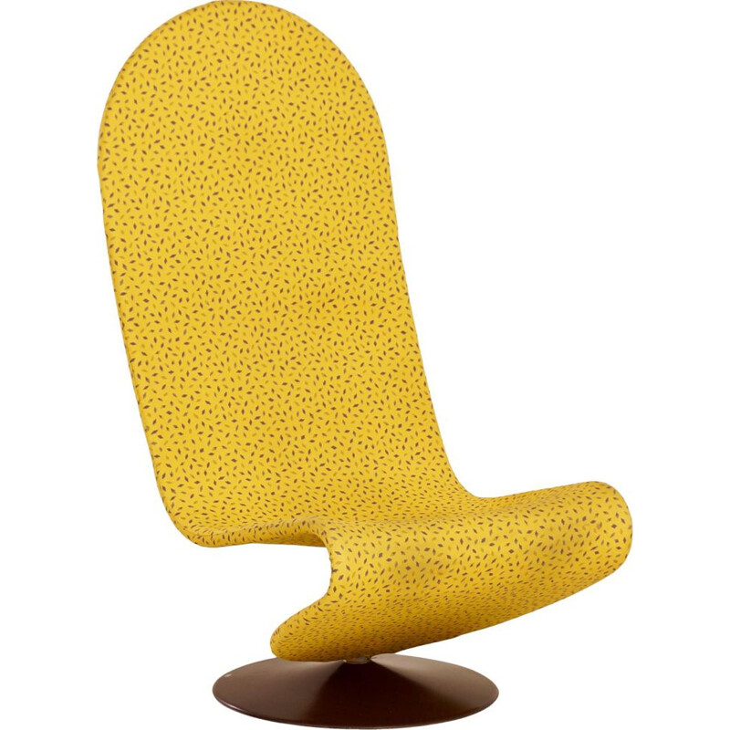 Vintage Yellow 123 Chair by Verner Panton for Fritz Hansen, 1970s