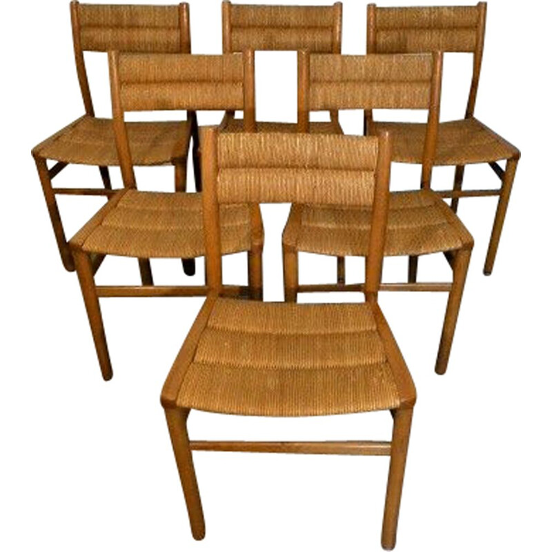 Set of 6 vintage chairs by Pierre Gautier Delaye for Weekend, 1960s