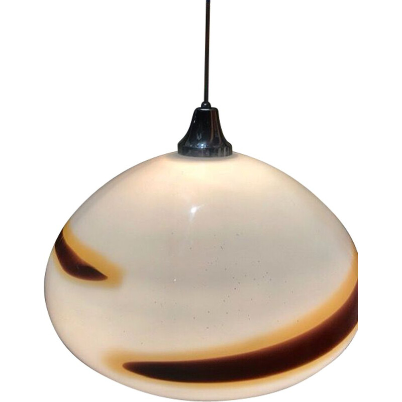 Vintage Two-coloured pendant light by Vistosi, 1970s