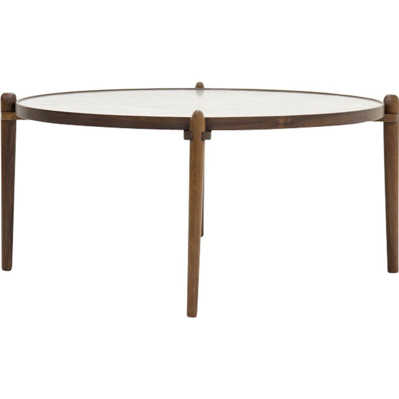 Vintage circular coffee table by Heinz Lilienthal, 1960s