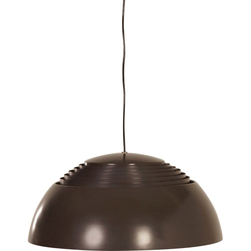 Vintage brown AJ Hanging Lamp by Arne Jacobsen for Louis Poulsen, 1970
