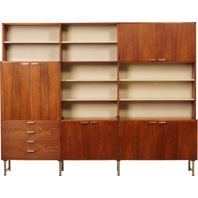 Vintage rosewood bookcase by Cees Braakman for Pastoe, 1960