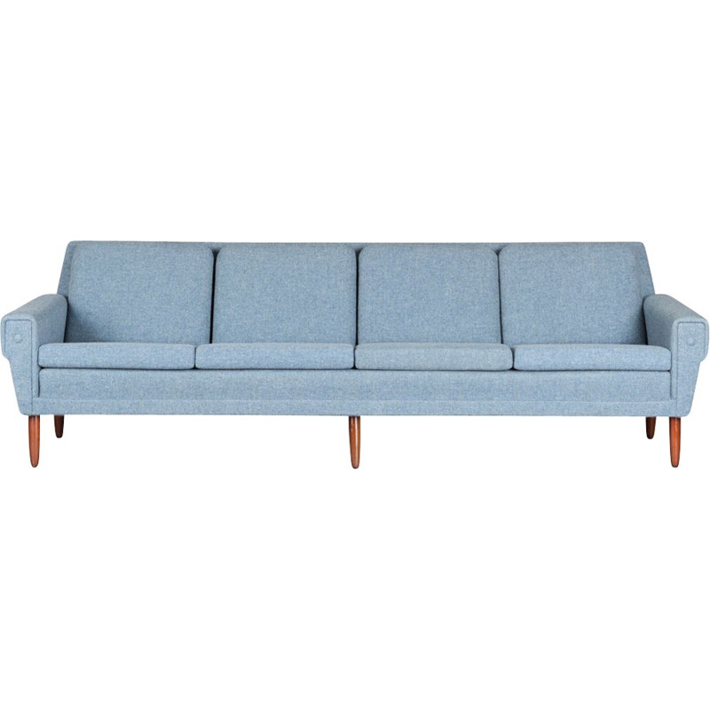 Vintage danish sofa by Folke Ohlsson for Dux in light blue wool, 1960