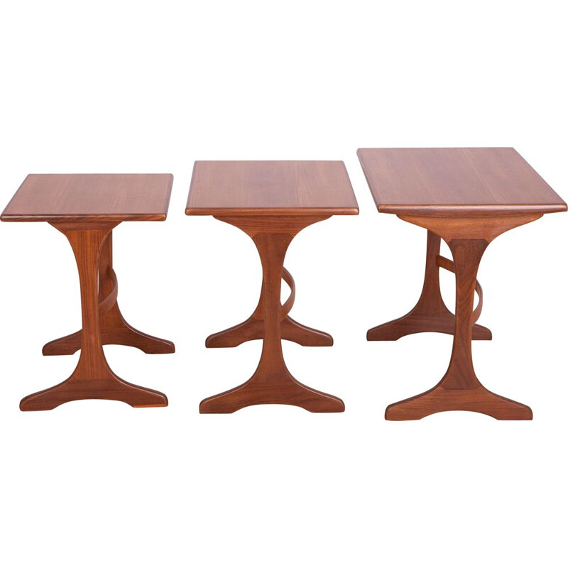 Set of 3 Teak Nesting Tables by Victor Wilkins for G-Plan, 1970s
