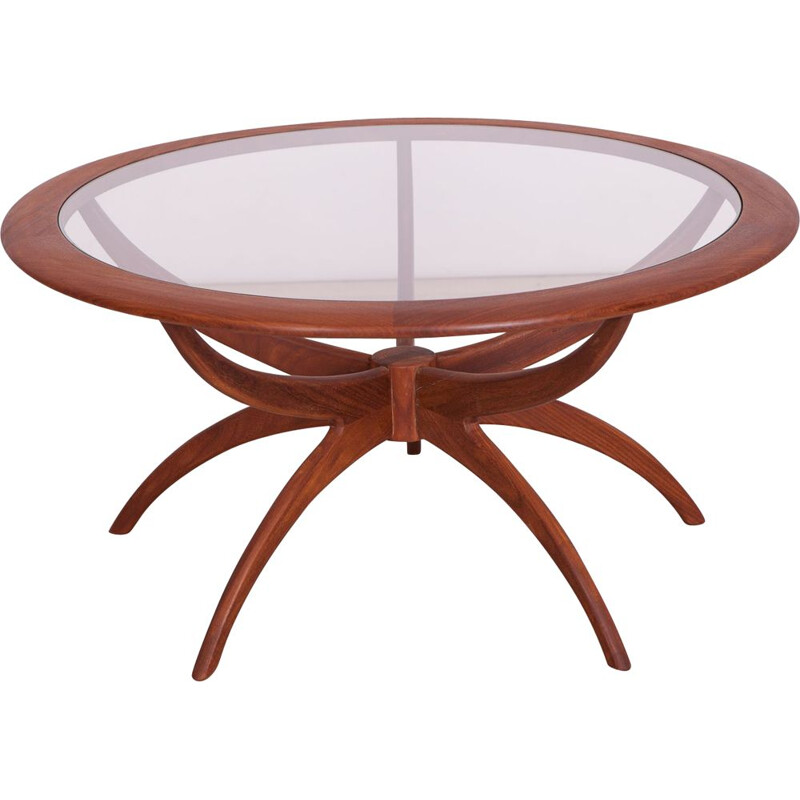 Round Teak Spider Coffee Table by Victor Wilkins for G-Plan, 1950s