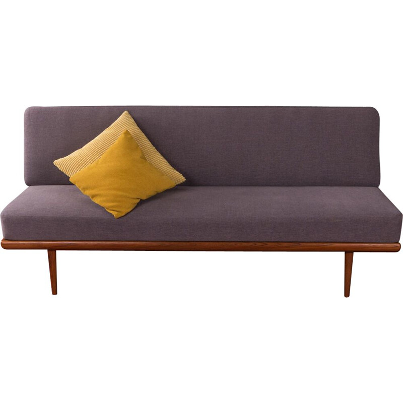 Vintage teak grey-purple sofa by Peter Hvidt & Orla Mølgaard-Nielsen, 1960s