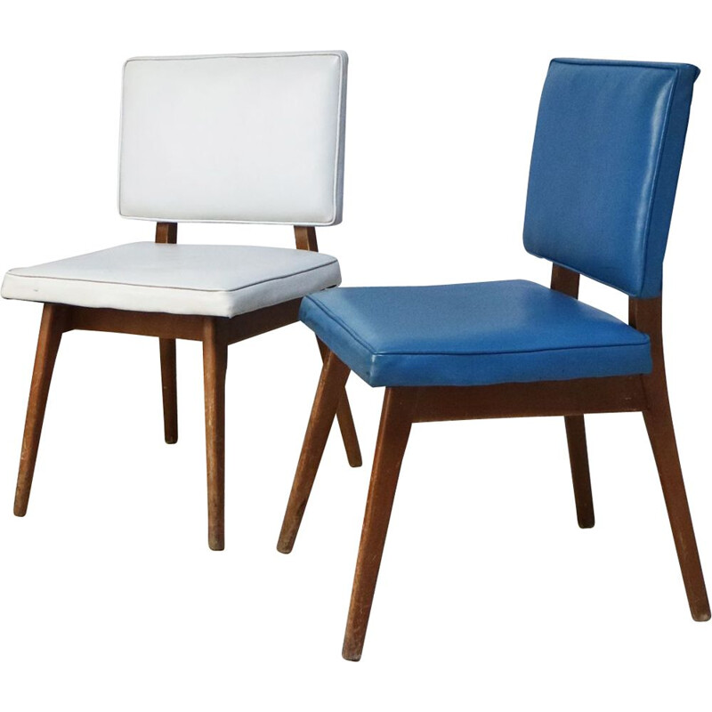 Pair of vintage dining chairs, Czech Republic 1960