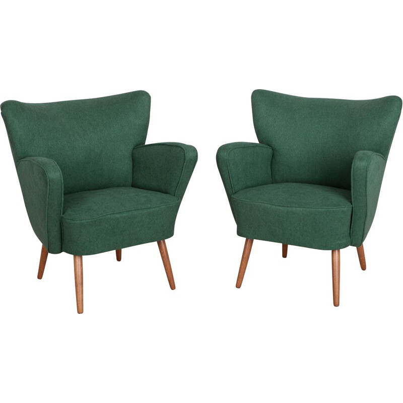 Set of 2 Vintage Club Armchairs, 1960s