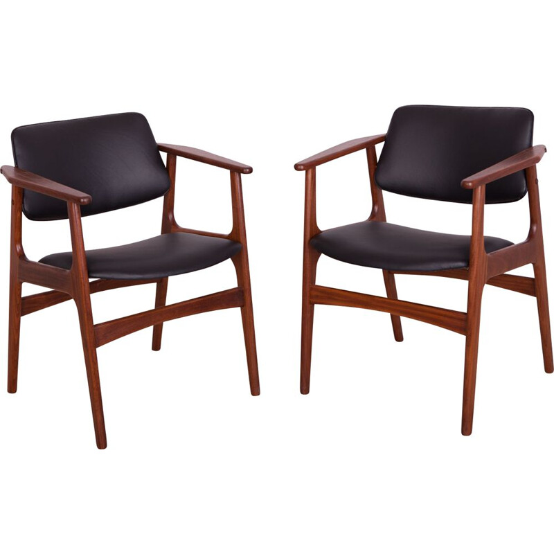 Set of 2 teak Armchairs by Arne Vodder, 1950s