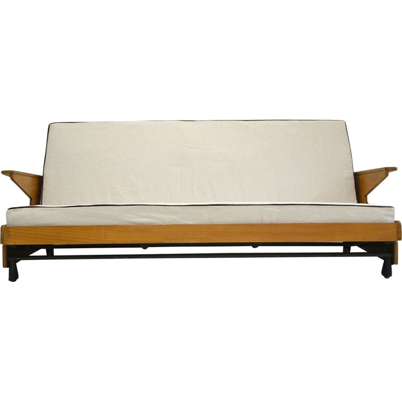 Restored vintage bed sofa 1950