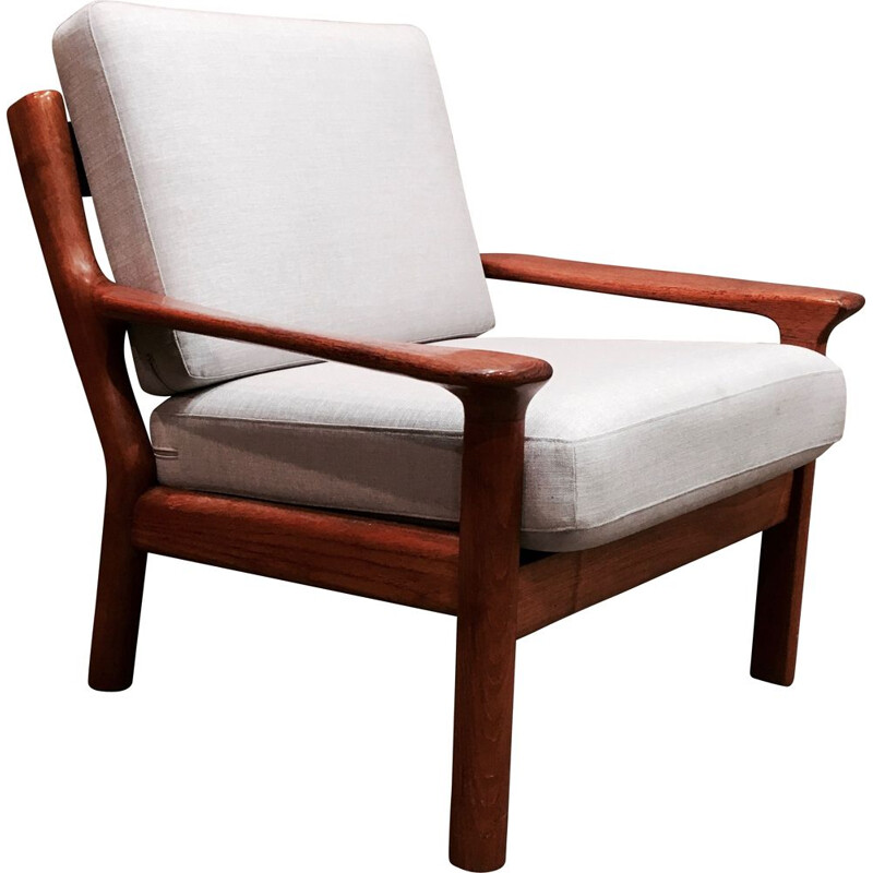 Scandinavian-designed teak chair stamped 1950