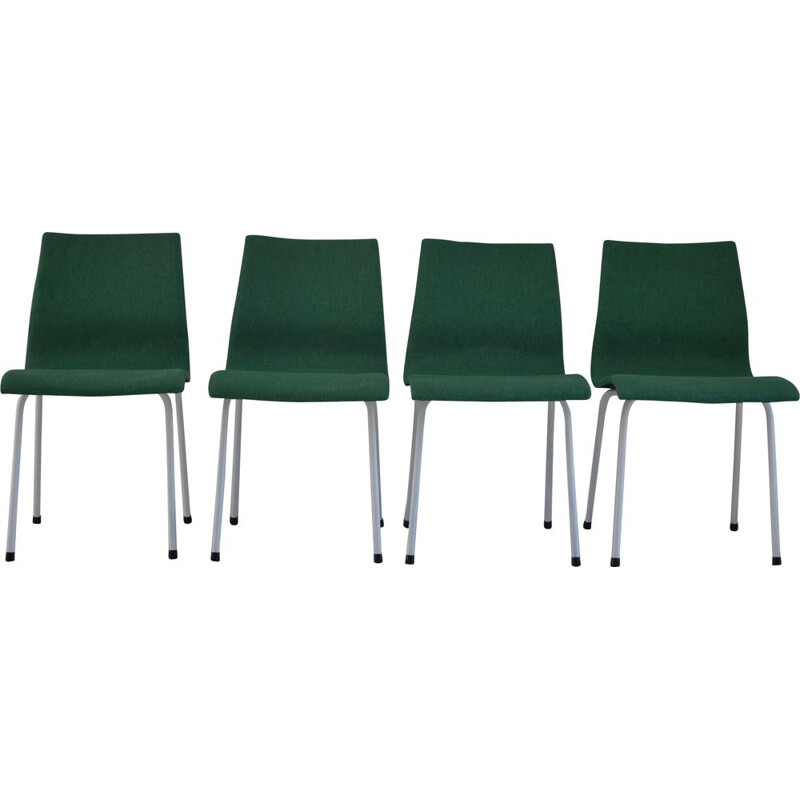 Suite of 4 chairs group IV Charron, René-Jean Caillette - 1950