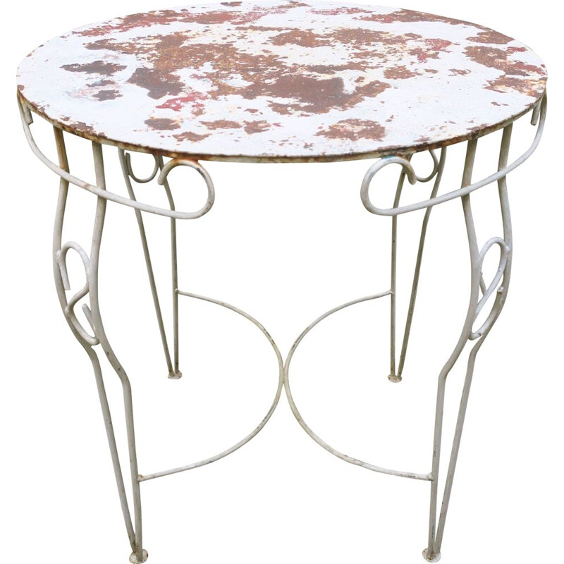Vintage painted metal garden table, 1950s