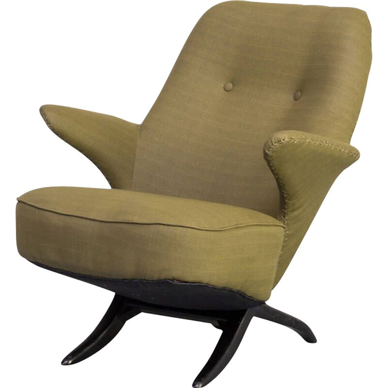 "Vintage lounge armchair ""pinguin"" by Theo Ruth for Artifort, 1950s"