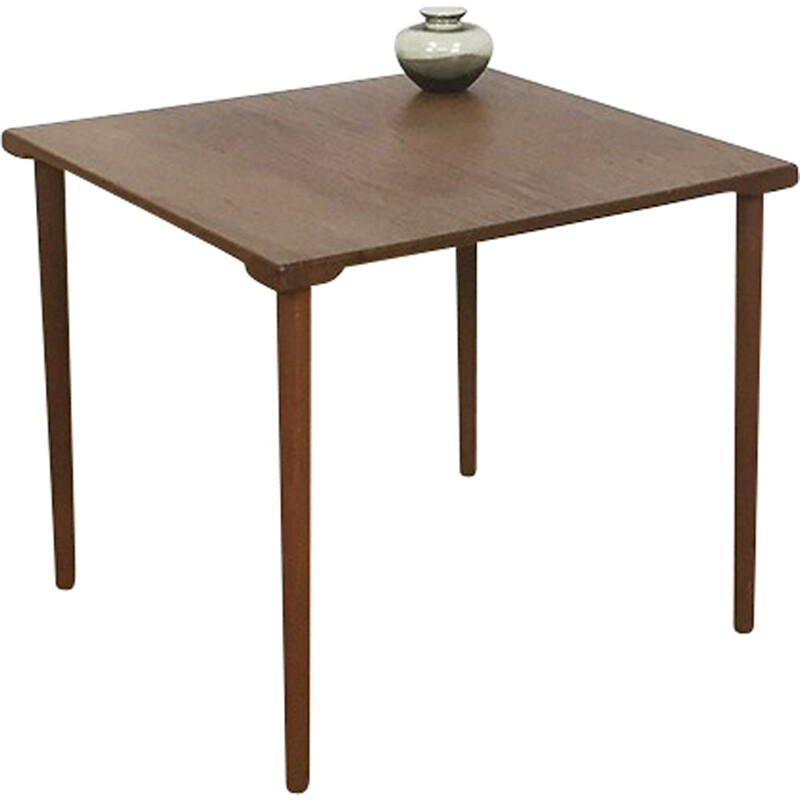 Scandinavian vintage France & Son side table in teak - 1960s
