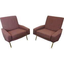 Airborne pair of Troika armchairs,  Pierre GUARICHE - 1950s