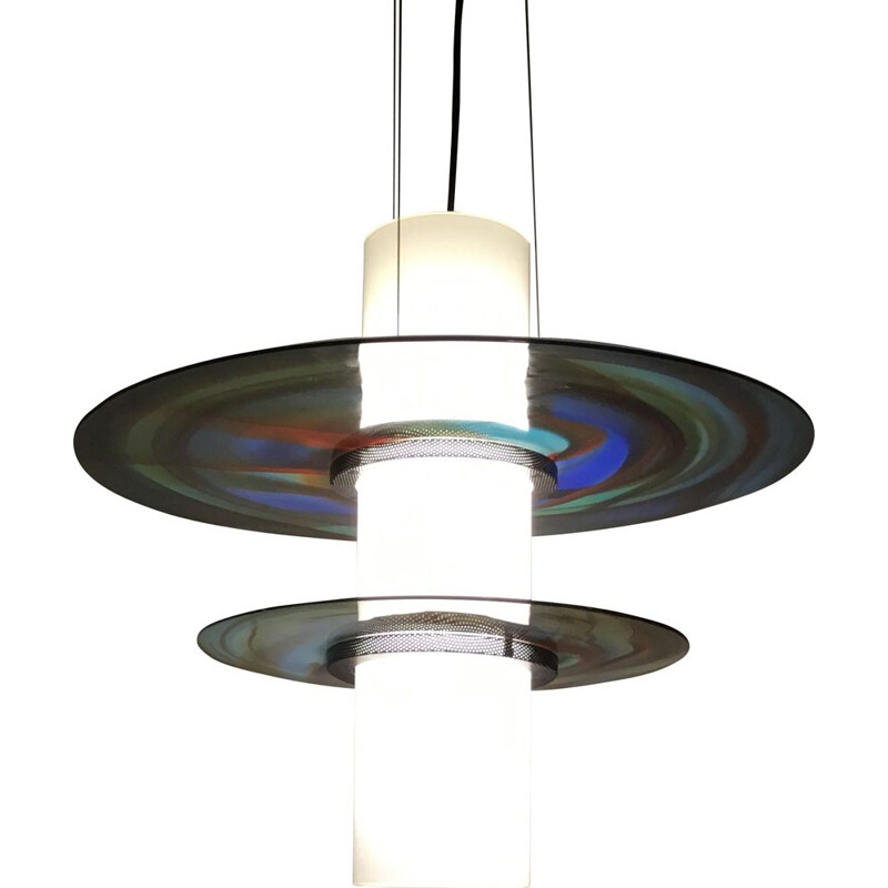 VIntage Murano glass lamp by Missoni, Italy, 1980s