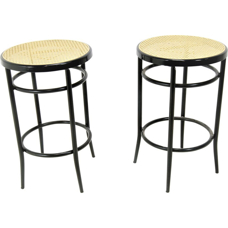 Set of 2 vintage metal bar stools by Brevetti,  Italy