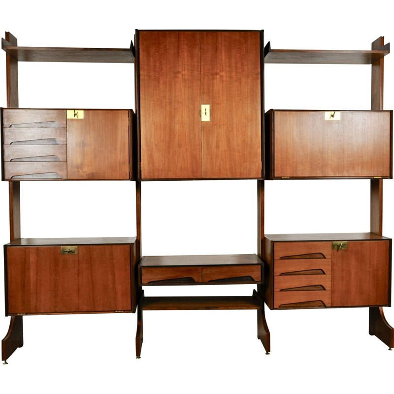 Vintage wall unit by Vittorio Dassi for Dassi, Italy, 1950s