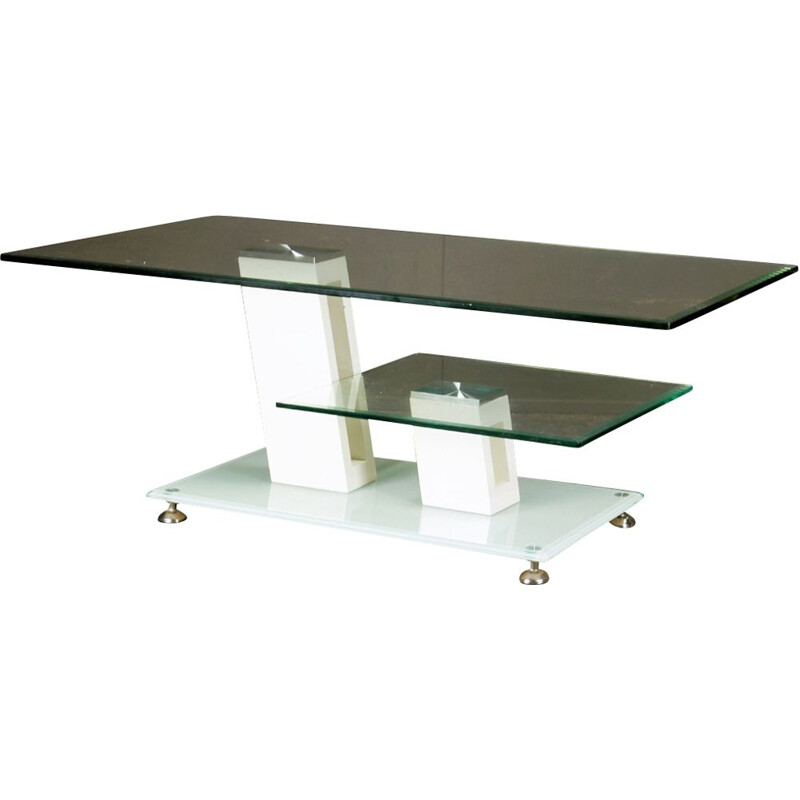 Vintage glass coffee table, 1990s