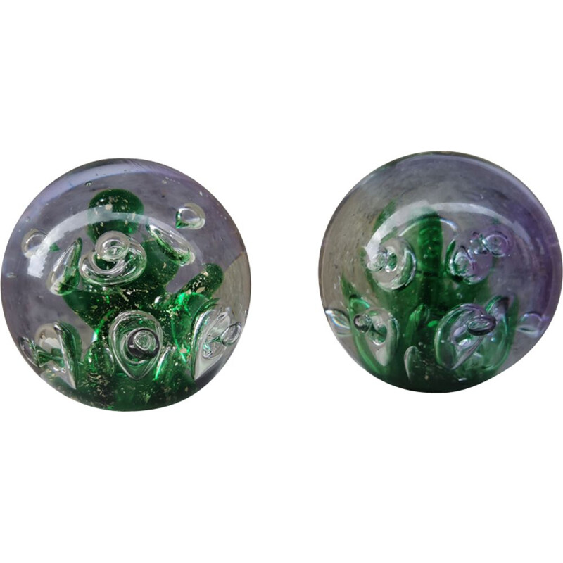 Vintage Murano glass marbles, 1970s