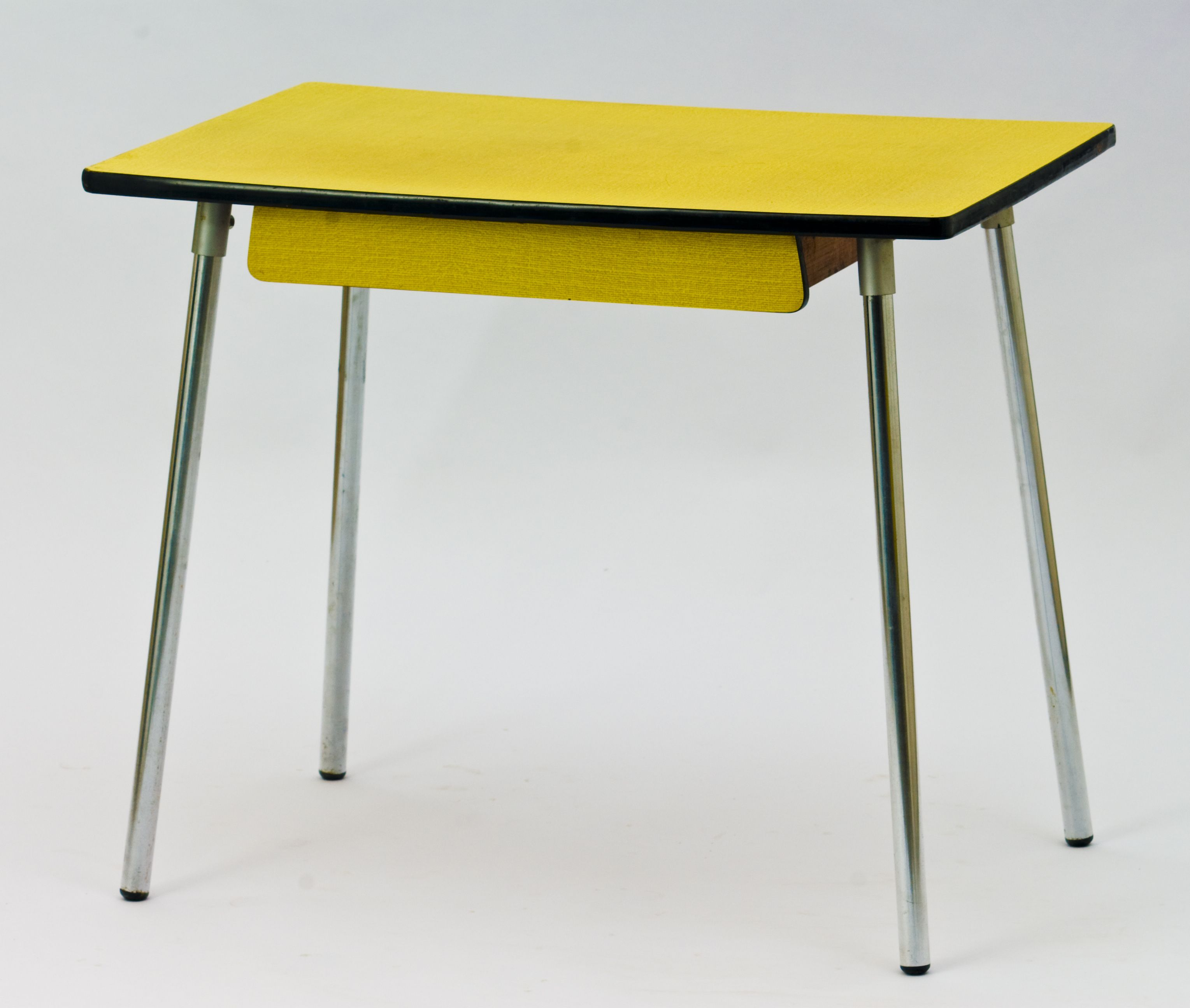 Vintage Yellow Dining Table In Formica Design Market