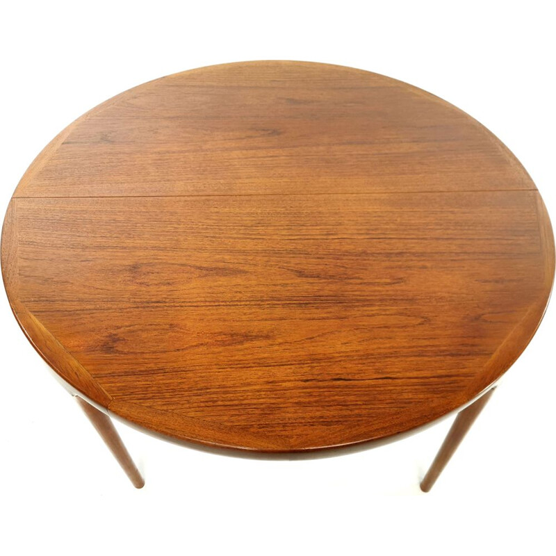 Teak vintage dining table Kofod Larsen for Faarup, 1960s