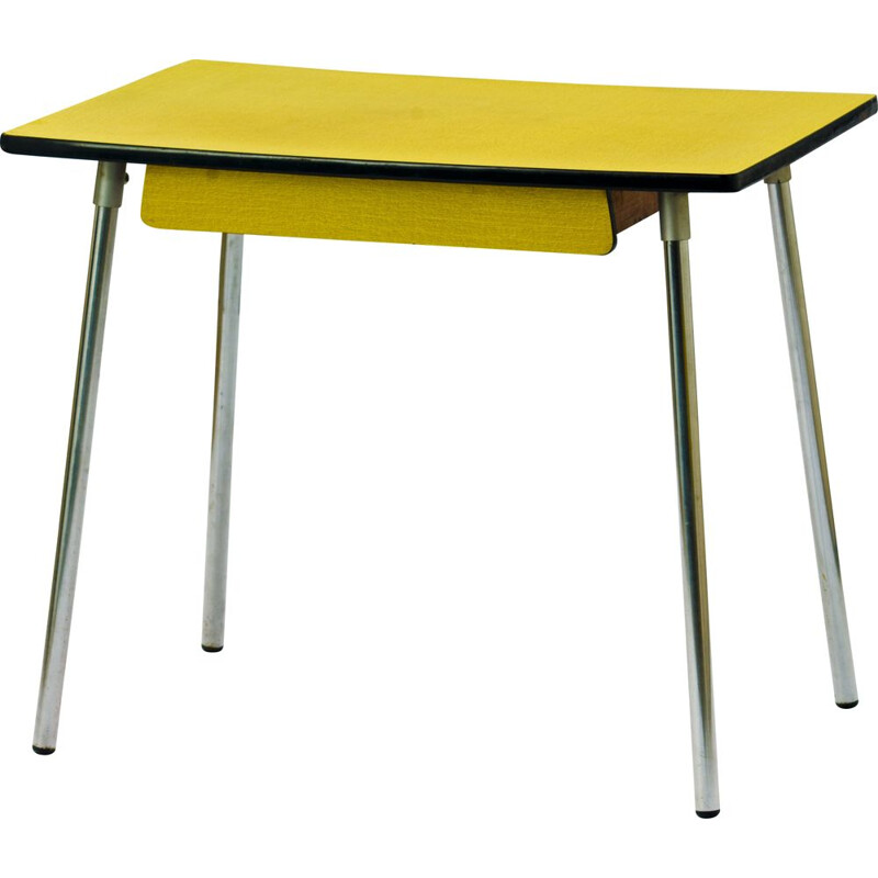 Vintage Yellow Dining Table in formica