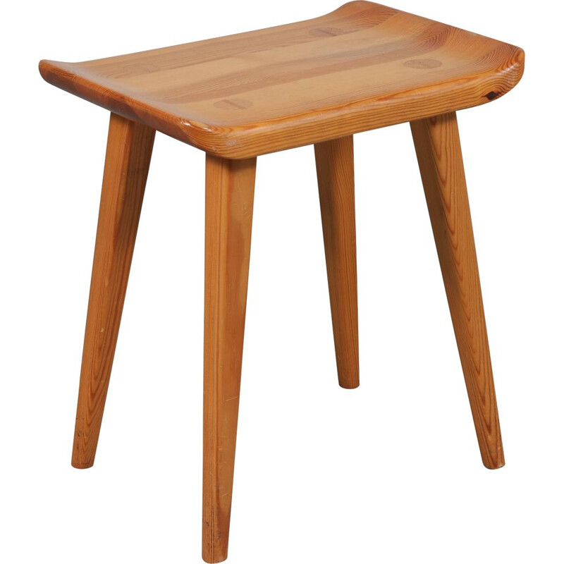 Vintage pine stool by Goran Malmvall, from Karl Andersson & Son, Denmark, 1950s
