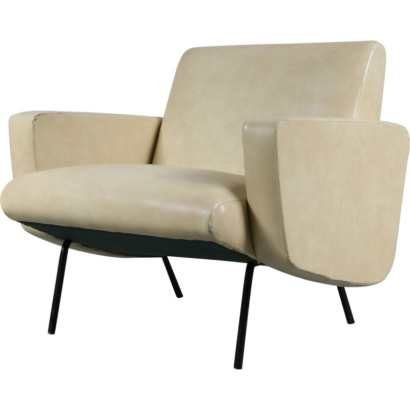 "Vintage ""Breda"" armchair by Pierre Guariche from by Meurop, Belgium, 1960s"