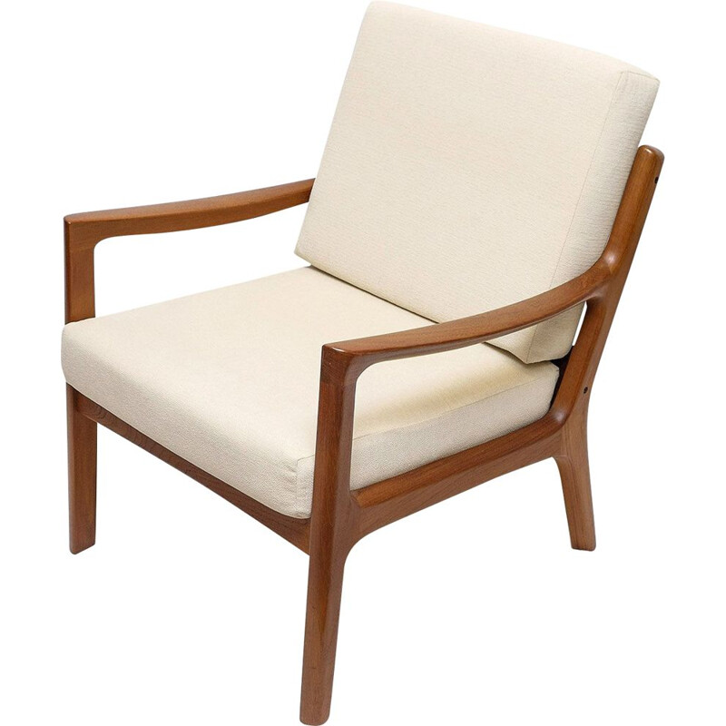 Vintage Teak Senator Lounge Chair by Ole Wanscher forCado