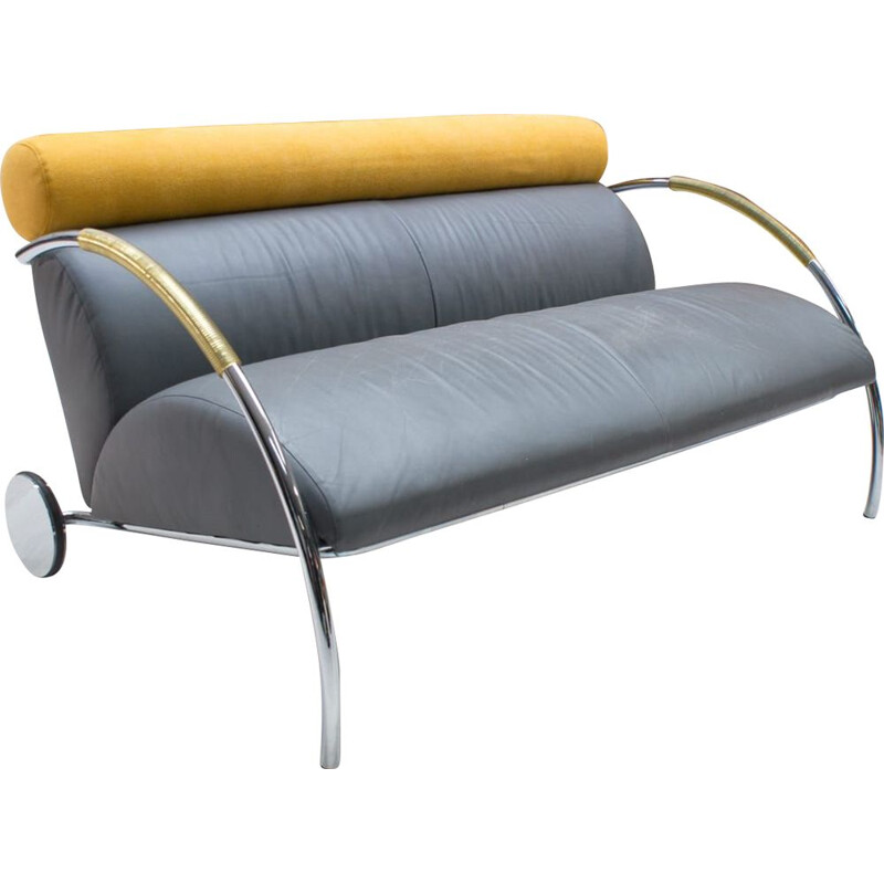 Vintage leather sofa by Peter Maly for Cor, Germany, 1980s