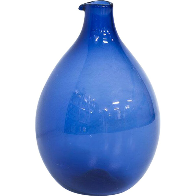 """Pullo"" glass vintage vase by Timo Sarpaneva for Iittala, 1950s"