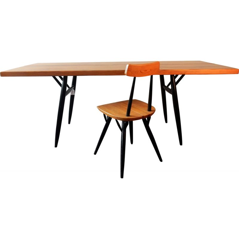 Vintage Pirkka dining table by Ilmari Tapiovaara for Laukaan Puu, Finland 1950