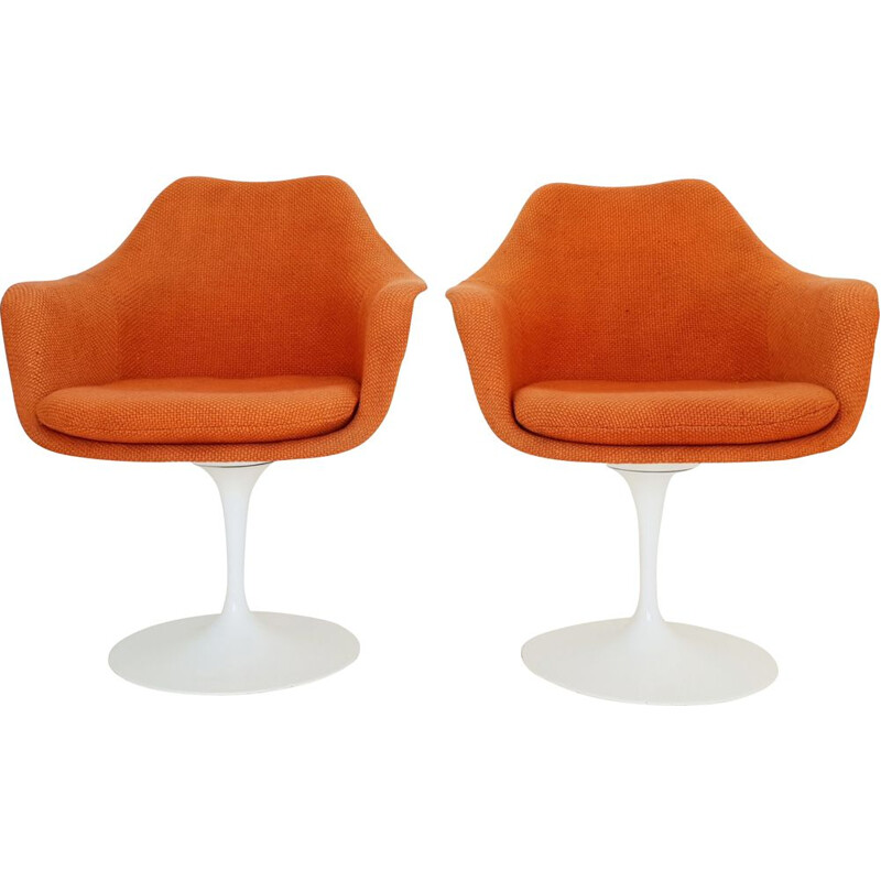 Set of 2 vintage tulip chairs by Eero Saarinen for Knoll, 1970s