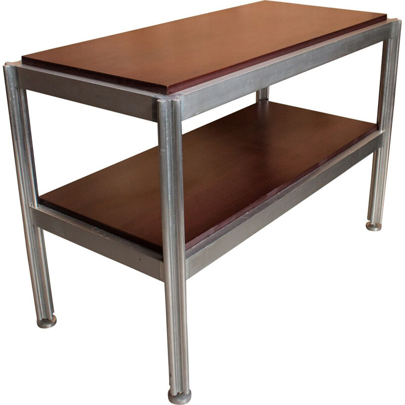 Vintage aluminium console by George Ciancimino, 1970s