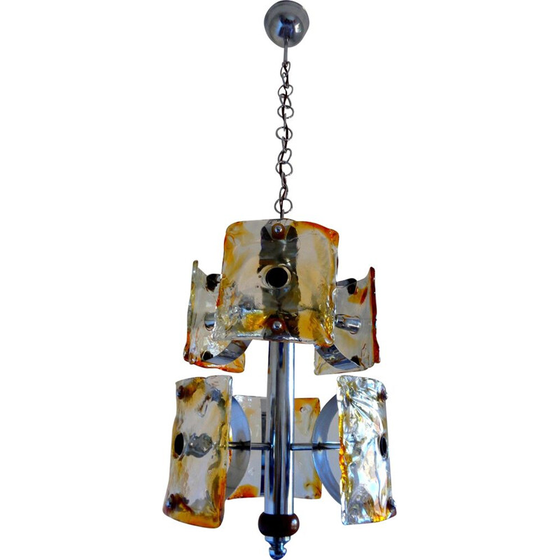 Vintage Mazzega chandelier from Murano, 1970