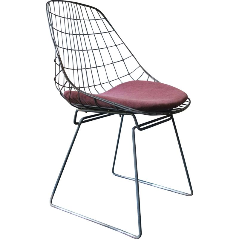 Vintage SM05 chair by Cees Braakman for Pastoe, 1950
