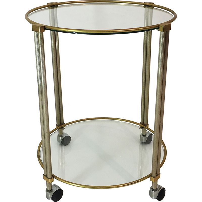 Vintage round drinks bar or trolley 1970