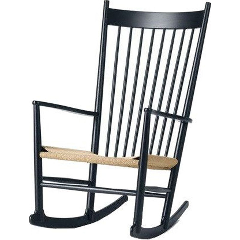"""J16"" rocking chair, black oak, Hans Wegner for FREDERICIA"