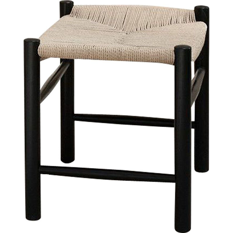 """J16"" stool, oak black lacquered, Hans Wegner for FREDERICIA"