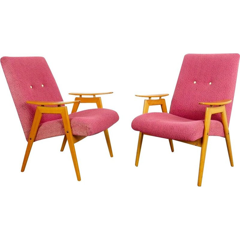 Pair of Vintage armchairs by Jaroslav Smidek, Czechoslovakia, 1960