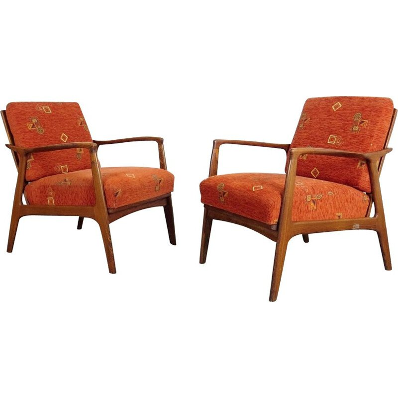 Pair of vintage armchairs by ULUV, 1960