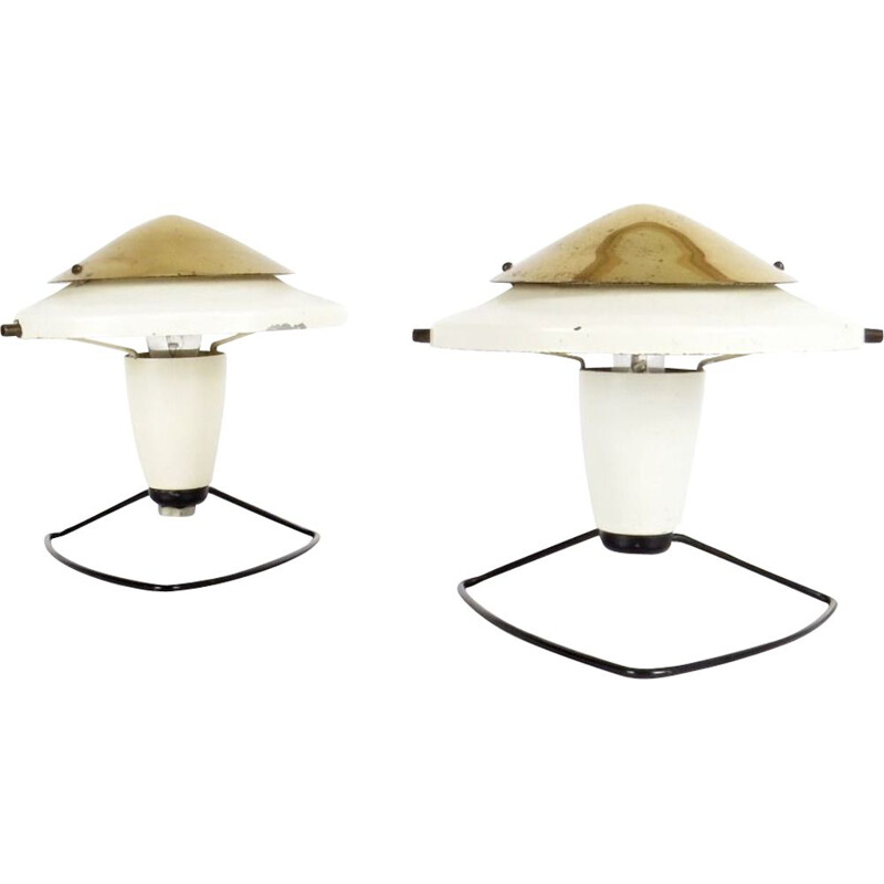 Pair of 2 vintage lamps by Zukov, 1960
