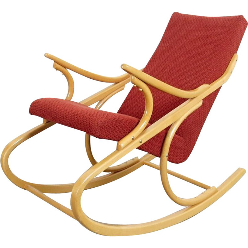 Vintage rocking chair, by Antonin Suman, 1960