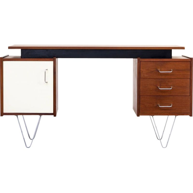 "Vintage ""floating"" desk by Cees Braakman  for Pastoe, 1960s"