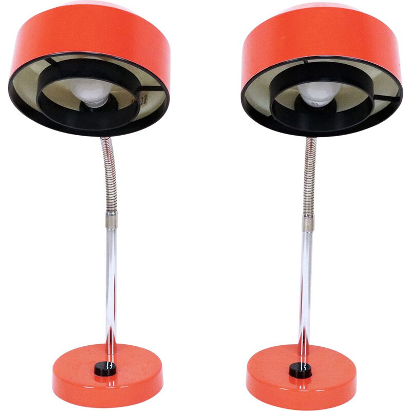 Set of 2 vintage bedside lamps, Elidus, 1960s