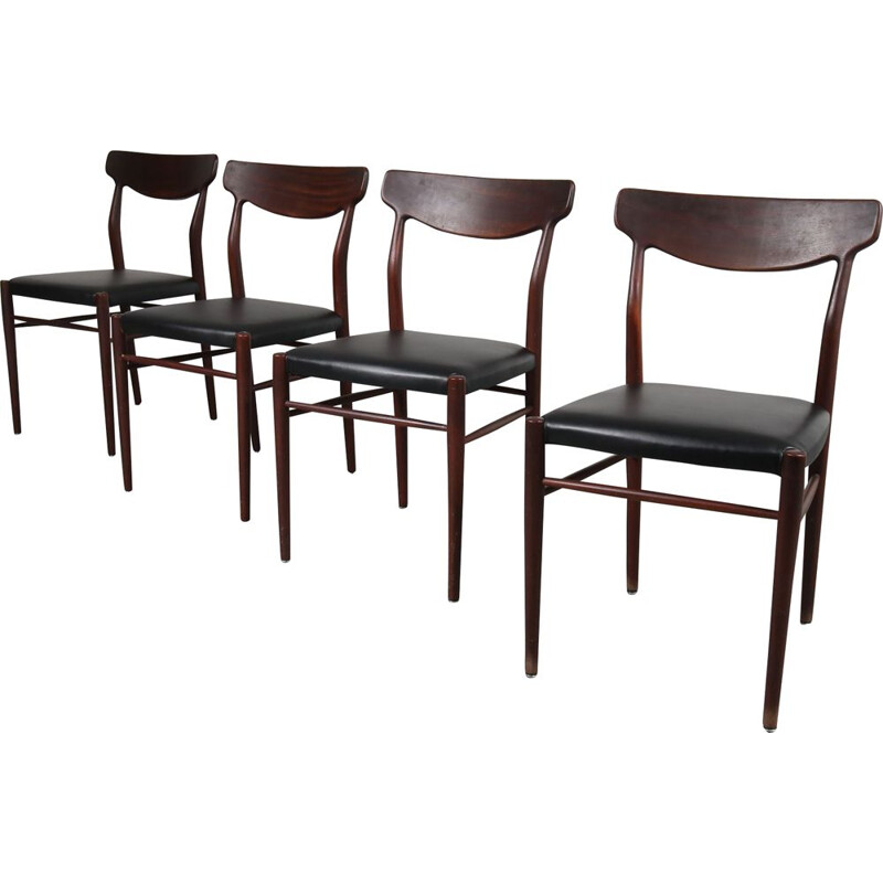 Set of 4 vintage dining chairs by Harry Ostergaard from Randers Mobelfabrik, Denmark, 1950s