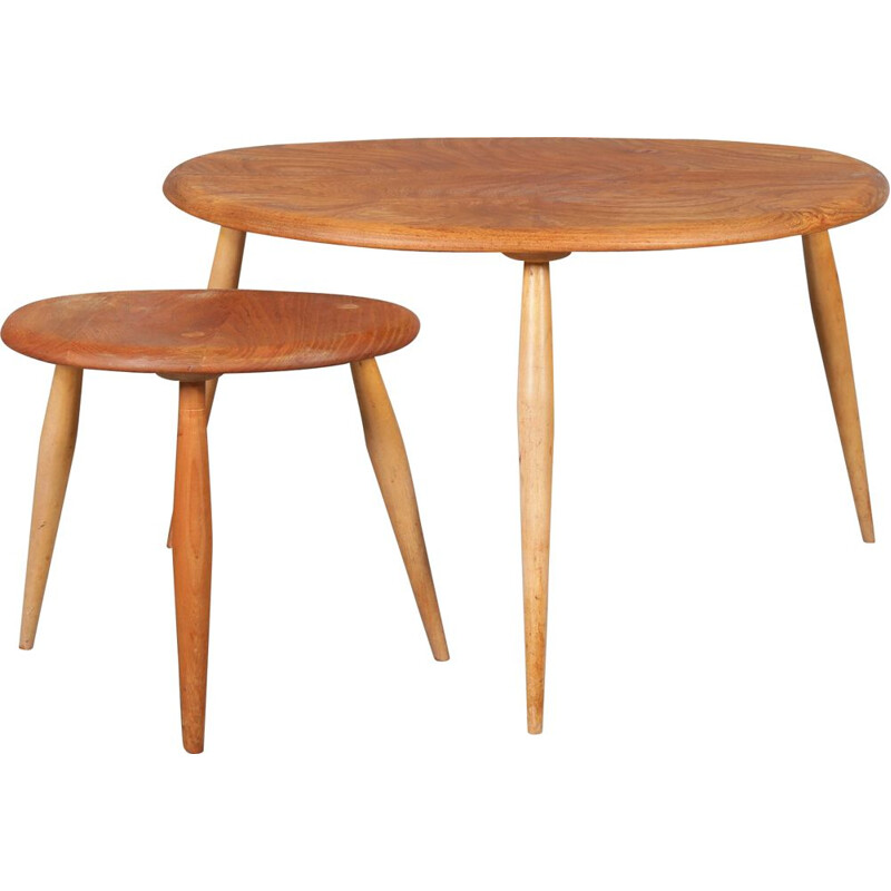 Set of 2 nesting tables by Ercol, UK, 1950s